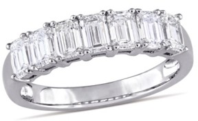 Macy's Emerald Cut Certified Diamond (1 3/4 ct. t.w.) Semi-Eternity Anniversary Ring in 14k White Gold