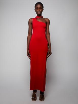 ATTICO Red Cut-out Midi Dress