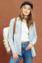 Forever 21 FOREVER 21+ Chambray Button Front Shirt
