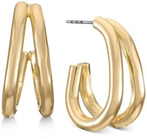 Alfani Gold-Tone Double-Row Open Hoop Earrings, Created for Macy's