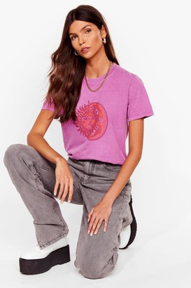 Nasty Gal Womens Sun's Out Graphic Tee - Pink - XL