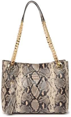 Mario Valentino Valentino By Luisa Python Leather Shoulder Bag