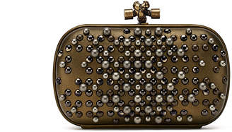 Bottega Veneta Pearl Chain Knot Clutch Bag