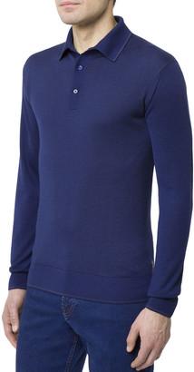 Stefano Ricci Men's Cashmere/Silk Long-Sleeve Polo Shirt