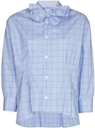 Rentrayage Bow-Tie Check-Pattern Shirt