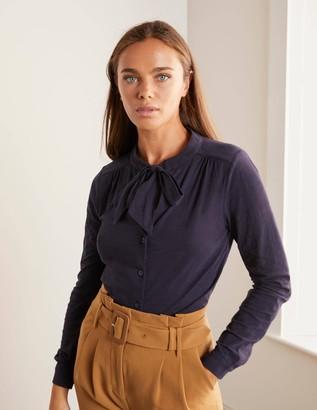 Rachel Tie Neck Jersey Shirt