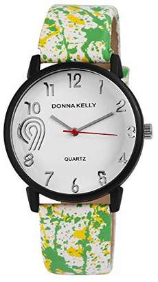Donna Kelly Womens Analogue Quartz Watch with Leather Strap 191272000002