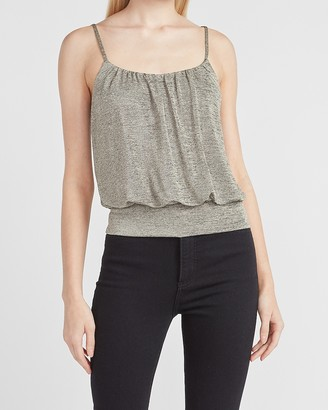 Express Marled Metallic Banded Bottom Cami