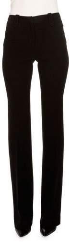 Altuzarra Serge Mid-Rise Slim-Leg Pants, Black