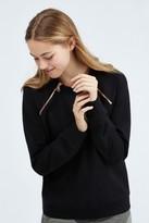 Monrow Double Zip Raglan Sweatshirt