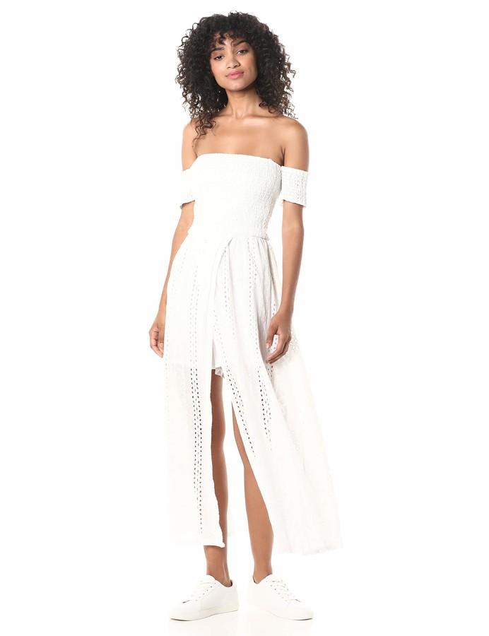 J.o.a. Women's Off The Shoulder Maxi Dress
