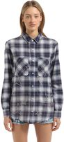 Amiri Stars Embellished Checked Flannel Shirt