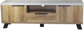 Home & Giftware Atlanta Entertainment Unit With Faux Concrete