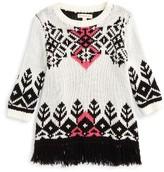 Girl's Tucker + Tate Geometric Fringe Pullover Sweater