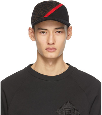 Fendi Black and Brown Forever Cap