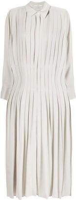 Co Pleated Midi Shirt Dress