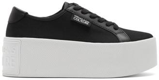 Versace Black Canvas Platform Sneakers