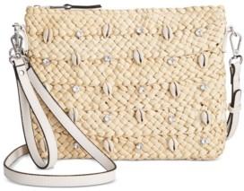 INC International Concepts Inc Straw & Shell Crossbody, Created for Macy's