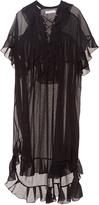 Chloé Lace-up ruffled dress