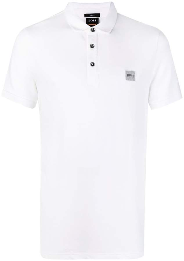 92852b5d9398 HUGO BOSS White Polo Shirts For Men - ShopStyle UK