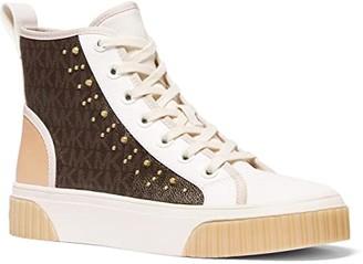 MICHAEL Michael Kors Gertie Studded High-Top (Brown) Women's Shoes
