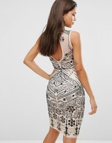 Boohoo Open Back Sequin Dress