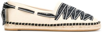 Tory Burch laced canvas espadrilles