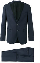 Tonello contrast lapel suit - men - Cupro/Virgin Wool - 48