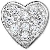 Macy's Diamond Accent Heart Single Stud Earring in 14k White Gold