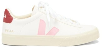 Veja Campo Leather Trainers - Pink White