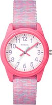 Timex Children's Quartz Watch with White Dial Analogue Display and Multicolour Nylon Strap TW7C12300
