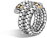 John Hardy Double Coil Ring with Diamonds