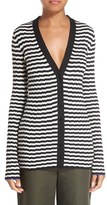 Proenza Schouler Women's Ribbed Stripe Cardigan