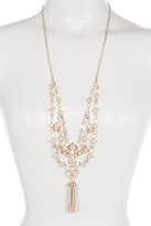 Marchesa Drama Crystal & Simulated Pearl Collar Necklace