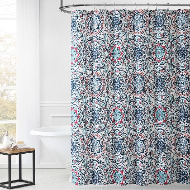Leila 1888 Mills Multi-color Shower Curtain
