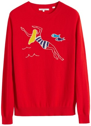 Parker Chinti & Red Swimmer Cashmere Sweater