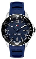 Tommy Hilfiger Men's Quartz Stainless Steel and Silicone Watch, Color:Blue (Model: 1791263)