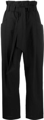 Brunello Cucinelli Paperbag Waist Straight-Leg Trousers