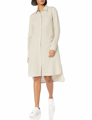 Celine The Drop Women's Long Sleeve Loose-Fit Midi Shirt Dress