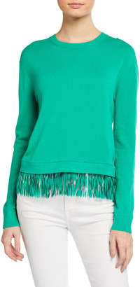 Lilly Pulitzer Marguerite Fringe-Hem Sweater