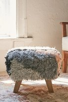 Urban Outfitters Shaggy Ottoman