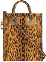 Sophie Hulme Albion mini leopard tote - women - Leather - One Size