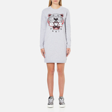 Kenzo Women's Tiger Sweater Dress Light Grey