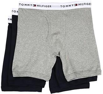 Tommy Hilfiger Cotton Boxer Brief 3-Pack (Black) Men's Underwear
