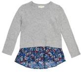 Tucker + Tate Toddler Girl's Mixed Media Sweater