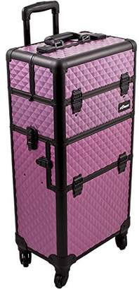 SUNRISE Makeup Case on Wheels I3261 2 in 1 Hair Stylist Organizer