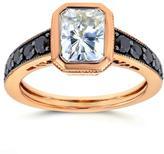 Kobelli Jewelry Kobelli 2 2/9 CT TW Moissanite and Diamond 14K Rose Gold Antique Engagement Ring