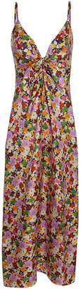 Borgo de Nor Flora Silk Twill Midi Dress