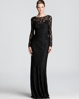 David Meister Gown - Long Sleeve Lace