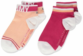 Tommy Hilfiger Girl's Th Kids Quarter 2p Fine Stripe Calf Socks